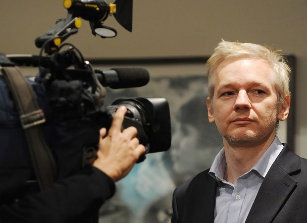 WikiLeaks founder Julian Assange at a press conference in London, 2011.