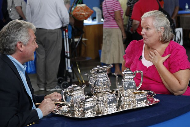 At the ANTIQUES ROADSHOW event in Washington, D.C., this guest is thrilled to...