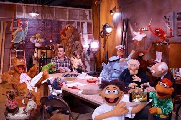 "The Muppets in their new big screen adventure, ""The Muppets."""