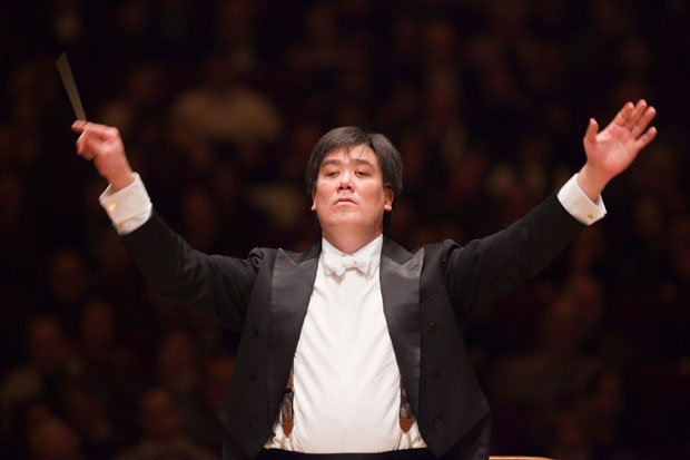 Conductor Alan Gilbert leads the New York Philharmonic during a special Carne...