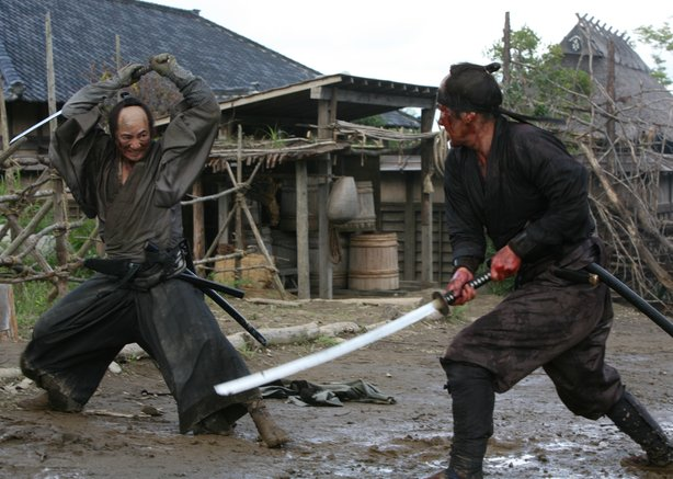 "Squaring off at the end of ""13 Assassins."""