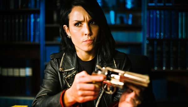 Noomi Rapace looking as Lisbeth Salander should.