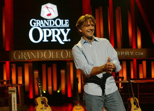"John Schneider, host of ""Opry Memories,"" taped at the historic Ryman Auditorium, the famous former home of the Grand Ole Opry"