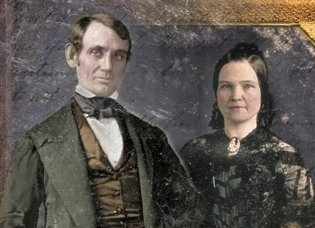 Promotional image of Abraham and Mary Lincoln