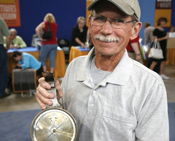 "At ""Antiques Roadshow"" in Wichita, Kansas, this collector of antique tools pr..."