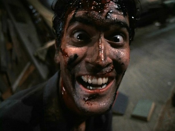 "The inimitable Bruce Campbell. Here seen in ""Evil Dead 2."""