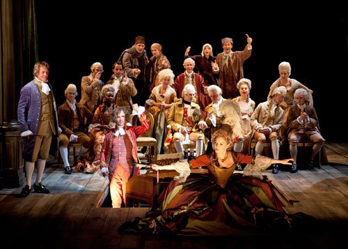 "Cast of the Old Globe's production of ""Amadeus,"" part of the 2011 Shakespeare..."