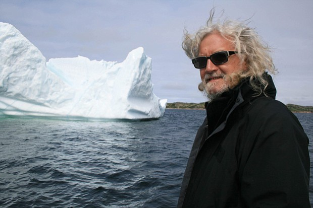 Scottish actor, writer and comedian Billy Connolly visits the Arctic Circle i...