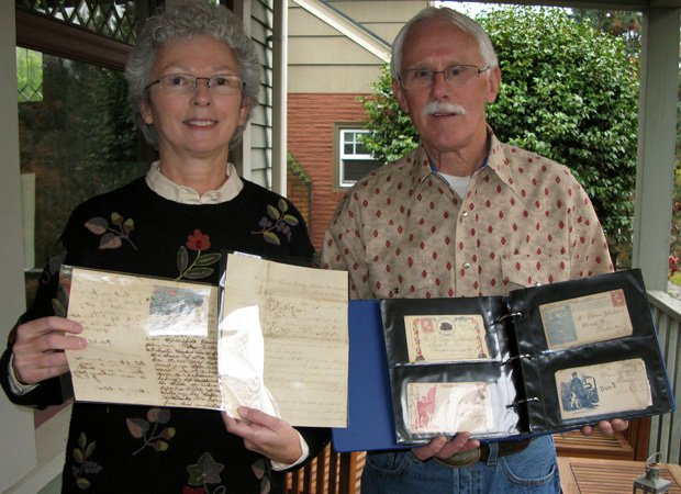 Ellen and Dale Campbell of LaGrande, Oregon found these Civil War letters. Th...