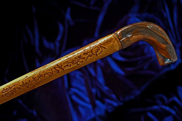 Scott Hirotsu inherited this cane carved with Japanese characters from his gr...
