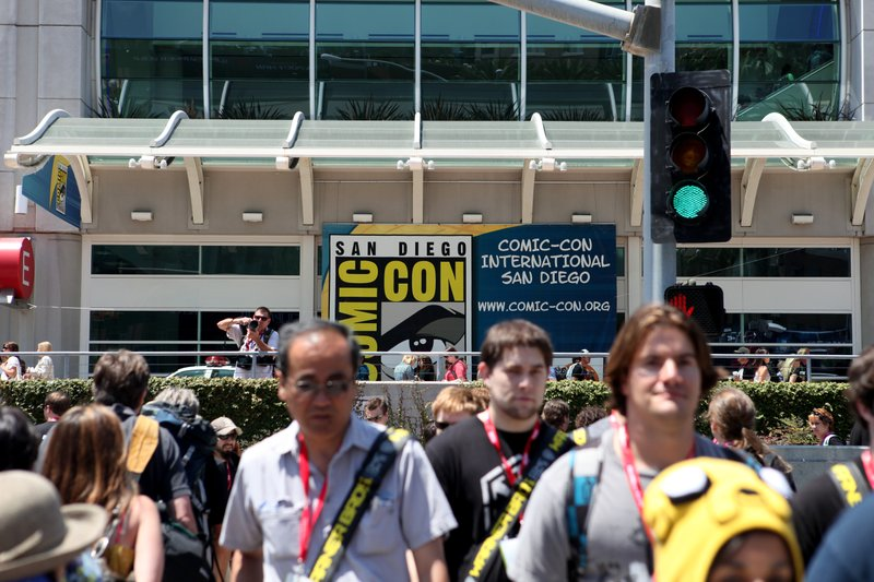 Crowds descended on downtown San Diego for Comic-Con 2011.