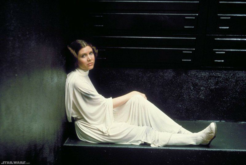 Carrie Fisher as Princess Leia in
