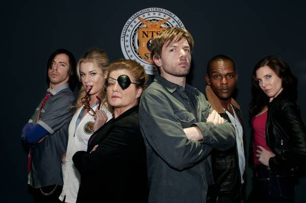 "Paul Scheer and the cast of ""NTSF:SD:SUV::"" which airs on Thursday nights on ..."