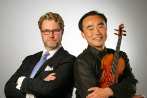La Jolla Music Society president/artistic director Christopher Beach with festival music director Cho-Liang Lin.