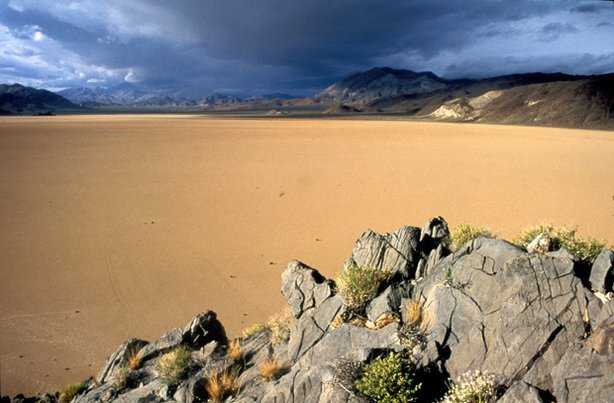 Somewhat paradoxically, ominous clouds gather above an especially barren-look...