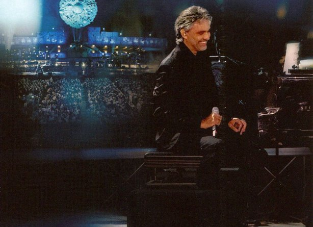 "Promotional image of the DVD ""Andrea Bocelli Live In Tuscany"""