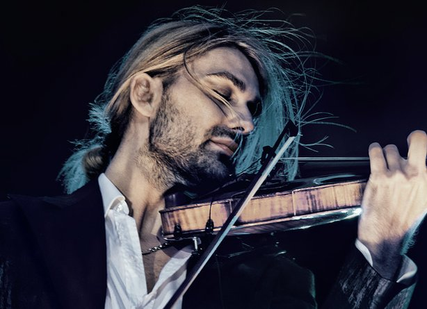 Promotional photo of musician David Garrett with violin.