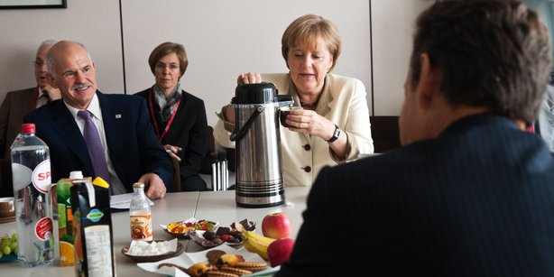 In this photo provided by the German Government Press Office German German Ch...