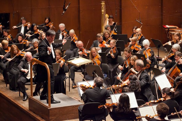 The New York Philharmonic, under conductor Alan Gilbert, with guest soloists ...