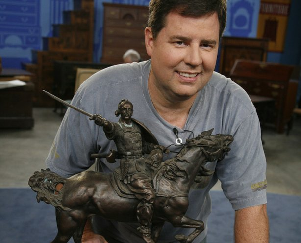 At ANTIQUES ROADSHOW in Hartford, Connecticut, this guest learns from appraiser Eric Silver that the gift from his father-in-law — a highly prized bronze statue of a medieval Russian warrior by Russian artist Eugene Lanceray — is valued at $120,000 to $130,000.