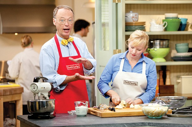 Bridget Lancaster shows host Christopher Kimball how to make affordable roast...
