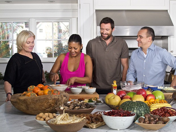 Deborra-Lee Furness, host Marja Vongerichten, actor Hugh Jackman and chef Jea...
