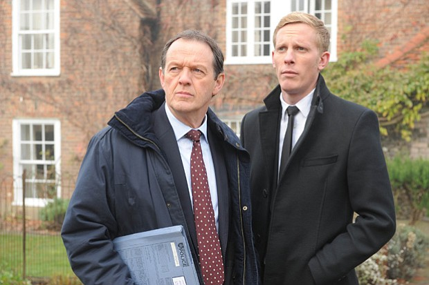(L to R): Kevin Whately as Inspector Lewis and Laurence Fox as Detective Serg...