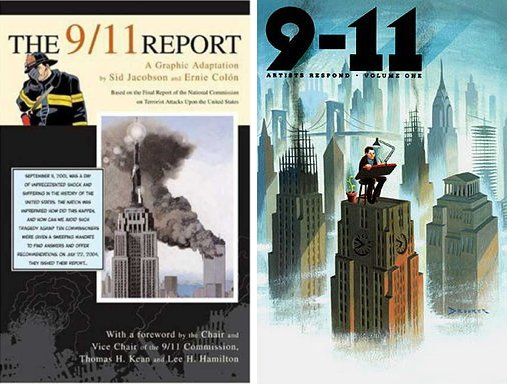 Two of the many comics that dealt with 9/11.