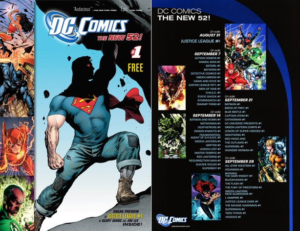 The DC New 52 preview comic.