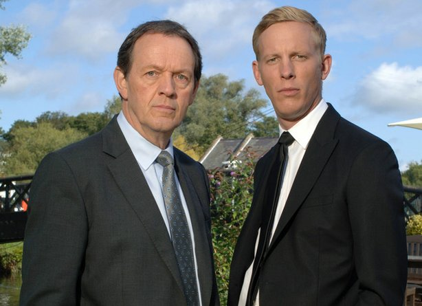 (L to R): Kevin Whately as DI Lewis and Laurence Fox as DS James Hathaway in ...