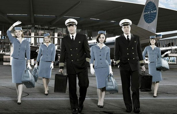 "The cast of ABC's new Sunday night show, ""Pan Am."""