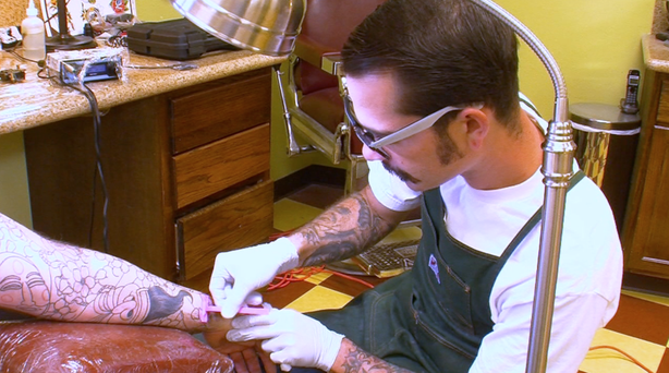 Sam Phillips of American Tattoo in Bonsall.
