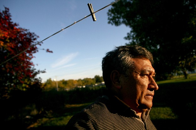 Jose Zacarias lives in an old farmhouse flanked by corn and soybean fields ne...