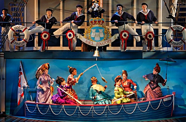 The cast of the Guthrie Theater's production of Gilbert and Sullivan's