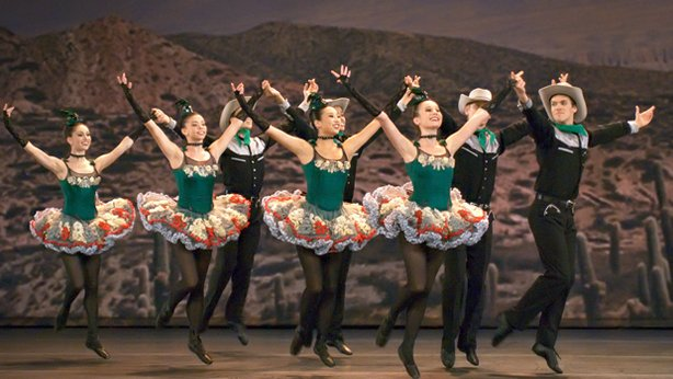 "The Miami City Ballet performs George Balanchine's ""Western Symphony."""