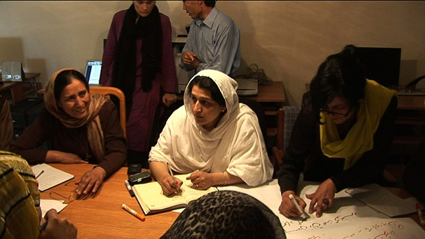 Afghan women's rights leader Hasina Safi at Afghan Women's Network (AWN) meet...