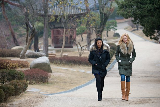 """""""Kimchi Chronicles"""" host Marja and guest star Heather Graham take a spiritual..."""