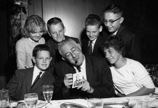 William Castle and some of his fan club members.