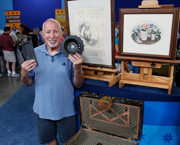 "At ""Antiques Roadshow"" in Des Moines, Iowa, this guest shows off his collecti..."
