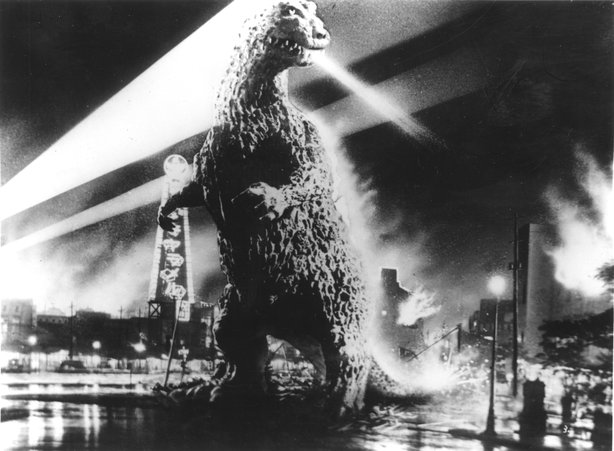 Big G! On the big screen at Horrible Imaginings. (Godzilla ®, Gojira and the character design are trademarks 