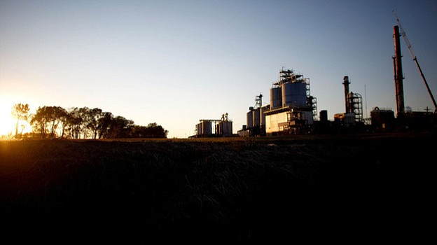 The Continental Carbon plant sits on the southern outskirts of Ponca City, Ok...