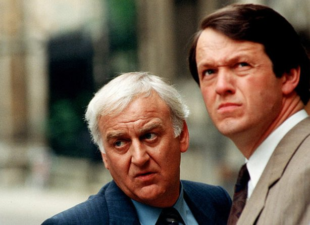 John Thaw as Inspector Morse and Kevin Whately as Sergeant Lewis