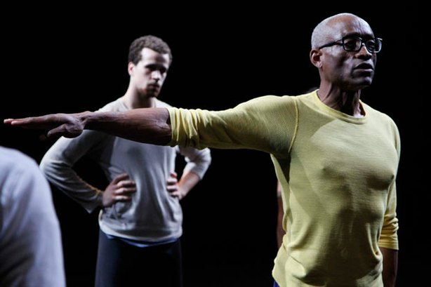 "Acclaimed director/choreographer Bill T. Jones (right) rehearses ""Fondly Do W..."