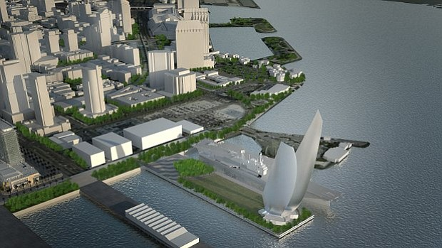 A conceptual rendering of the proposed Navy Pier in downtown San Diego.