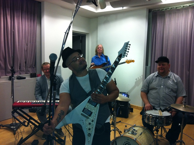 Stevie and the Hi-Staxx performing live in the KPBS studios.
