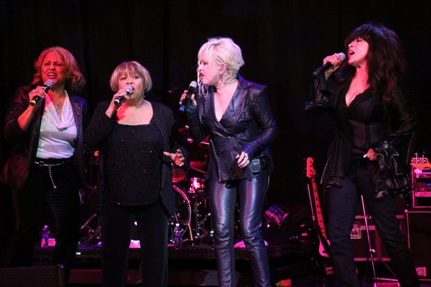 Rock and Roll Hall of Fame inductees (l-r) Darlene Love, Mavis Staples and Ro...