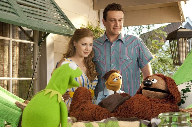 "Amy Adams and Jason Segel are the humans joining the fun fro ""The Muppets."""