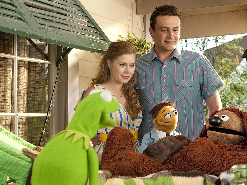 Amy Adams and Jason Segel are the humans joining the fun fro