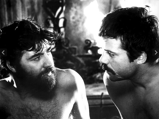 "Alan Bates and Oliver Reed in Ken Russell's ""Women in Love."""