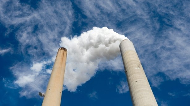 The U.S. is second only to China in emitting gases that cause global warming. Above, the smoke stacks at American Electric Power's Mountaineer power plant in West Virginia.